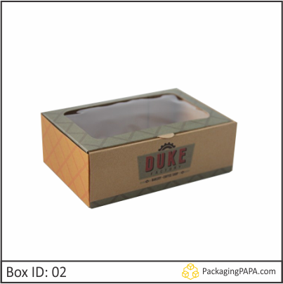 Custom Bakery Kraft Packaging Box
