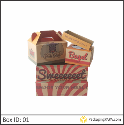 Custom Bakery Kraft Packaging Boxes