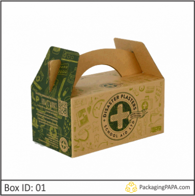 Custom Cardboard Carry Packaging Boxes