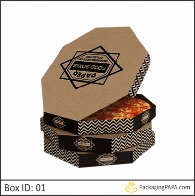 Custom Cardboard Pizza Packaging Boxes
