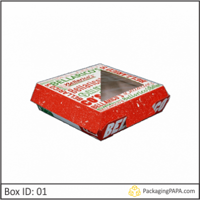 Custom F-flute Pizza Window Boxes 01