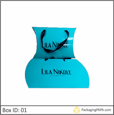 Custom Fancy Paper Pillow boxes 01
