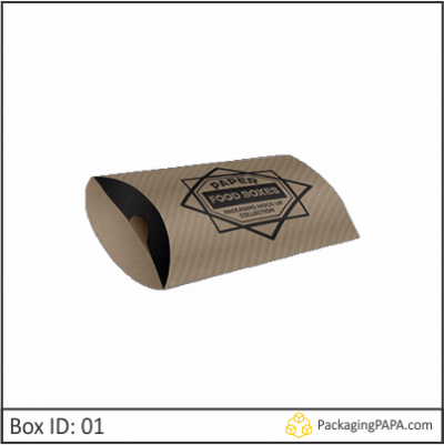 Custom Kraft Paper Pillow Boxes 01