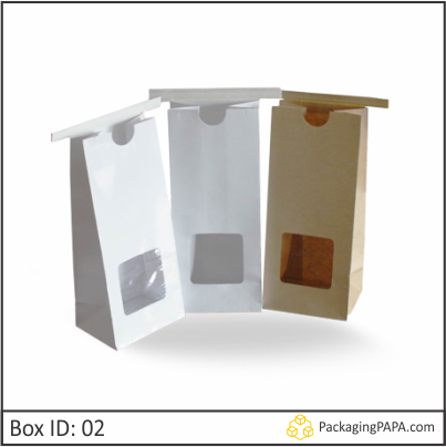 Custom Kraft Window Packaging Bags 02