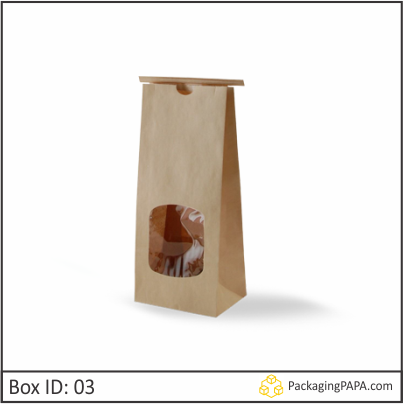 Custom Kraft Window Packaging Bags 03