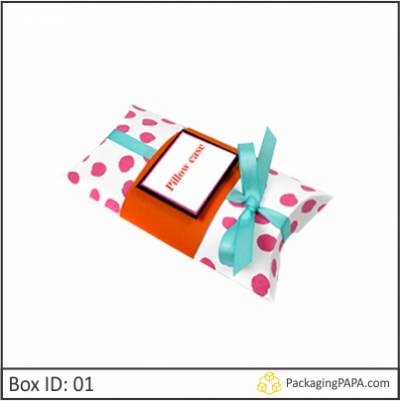 Custom Logo Pillow Boxes 01