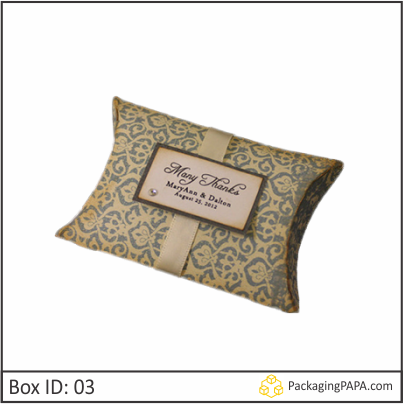Custom Wedding Gift Pillow Boxes 03