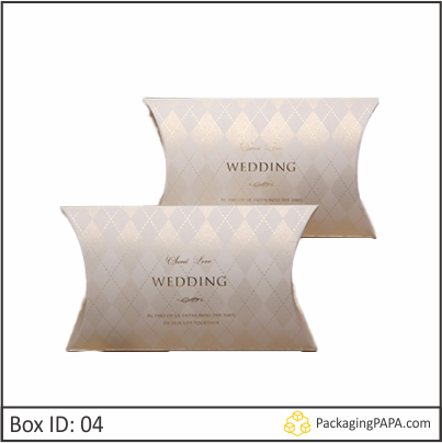Custom Wedding Gift Pillow Boxes 04