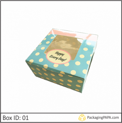 Custom Window Cake Packaging Boxes 01