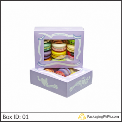 Custom Window Dessert Packaging Boxes 01
