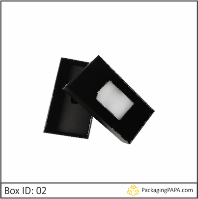 Custom Window Tie Packaging Boxes 02