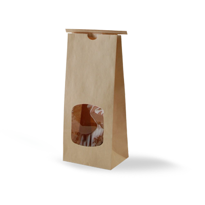 Custom Kraft Window Packaging Bags 3