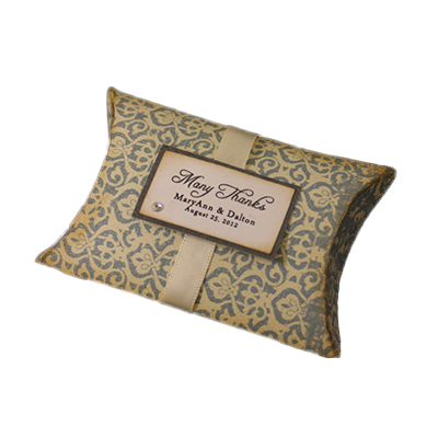 Custom Wedding Gift Pillow Boxes 1