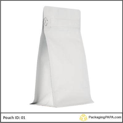 Flat Bottom Pouch matt white 01