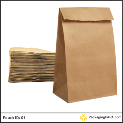 Pouch brown Kraft paper 01