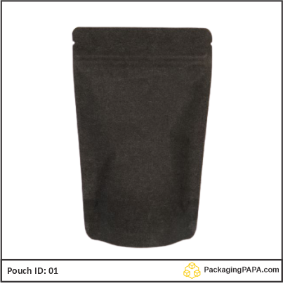 Stand Up Pouch black Kraft paper 01