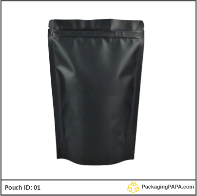 Standup Pouch Black with handle 03
