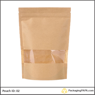 Standup Pouch Kraft plus window 02