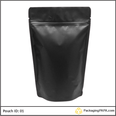 Standup Pouch Matt Black 01