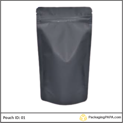 Standup Pouch Matt Black 03