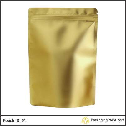 Standup Pouch Matt Gold 01