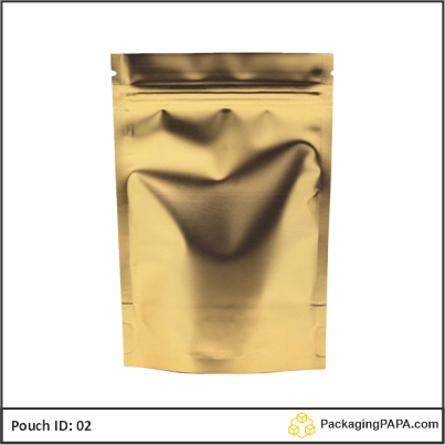 Standup Pouch Matt Gold 02
