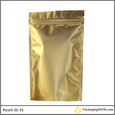 Standup Pouch Matt Gold 03