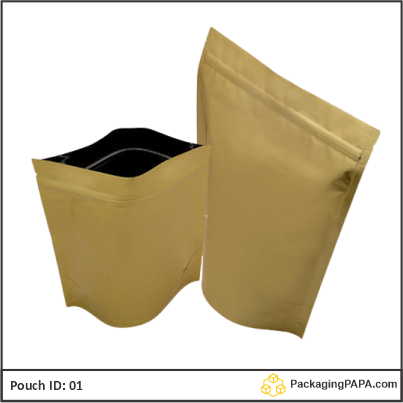 Standup Pouch Matt Gold 04