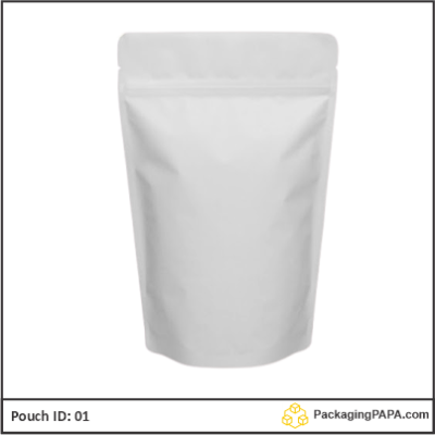 Standup Pouch Matt White 01