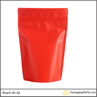 Standup Pouch Red 02