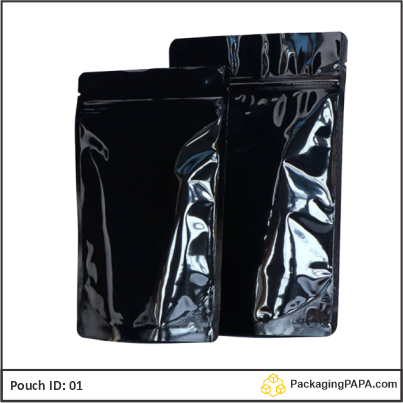 Standup Pouch Shiny Black 04